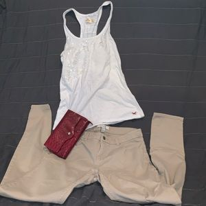 Whole outfit $10 Hollister shirt and clutch